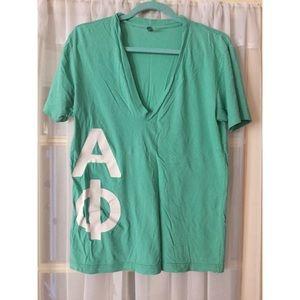 Alpha phi American apparel turquoise vneck